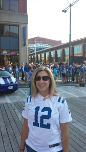 At the Bud Light Tailgate Zone before the game